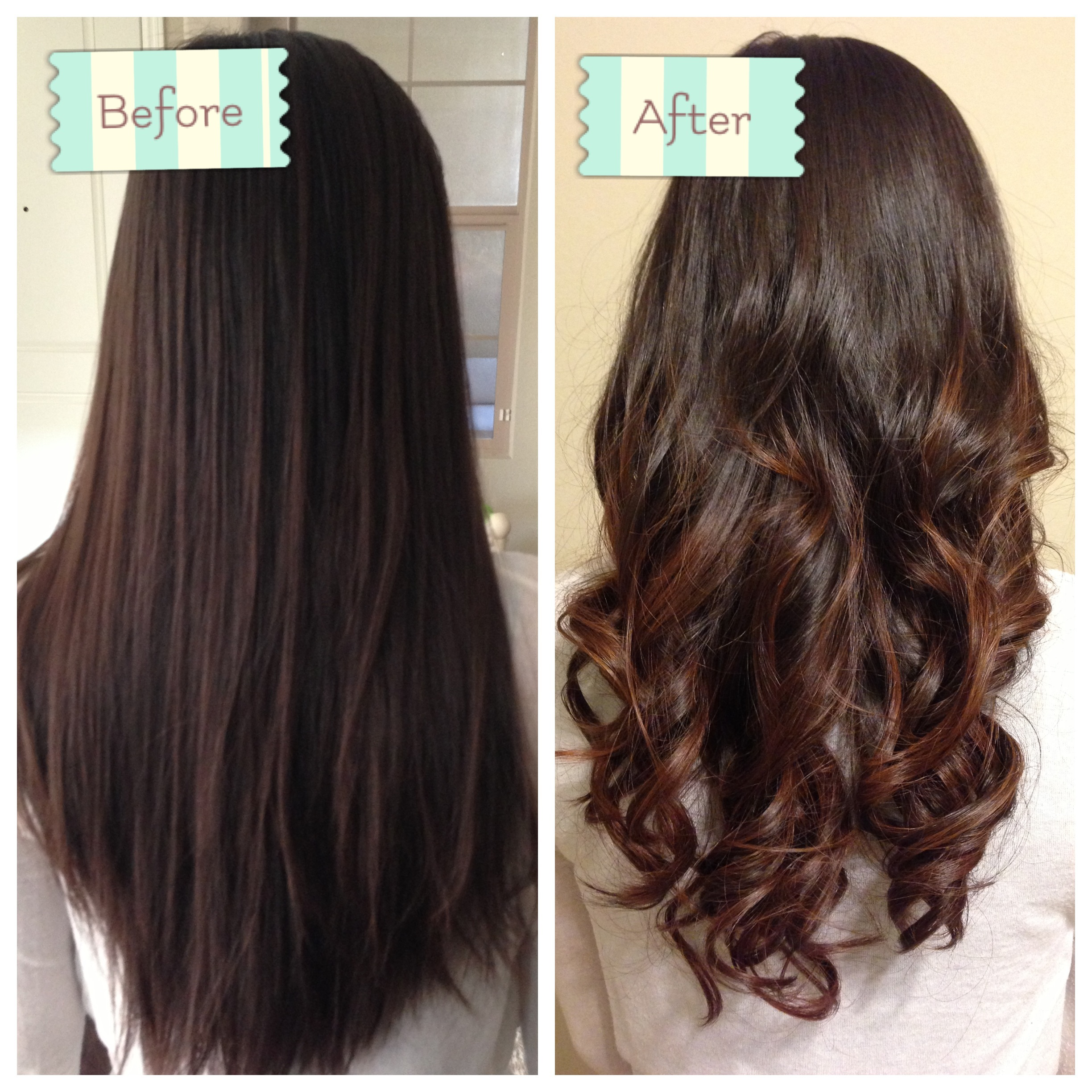 Permed Hair Before And After Before and after: back curled